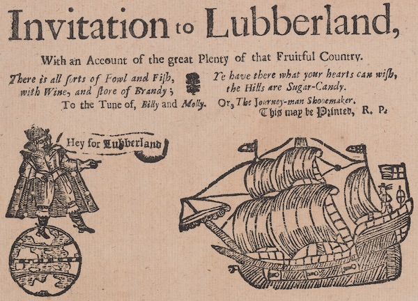 An Invitation to Lubberland Broadside Ballad Title